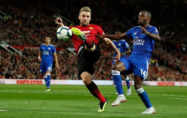 Sút tung lưới Leicester City, Luke Shaw lập cột mốc đáng nhớ tại Man Utd - Bóng Đá