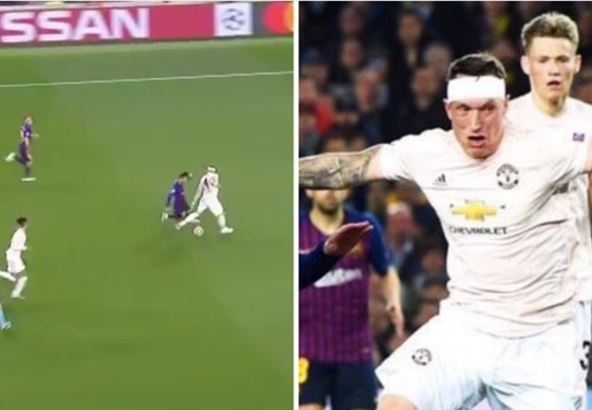 Messi biến Phil Jones thành