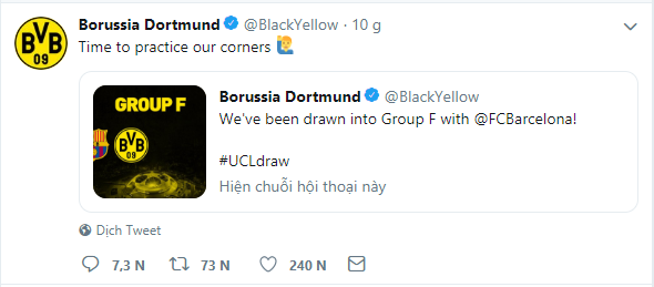 Dortmund troll Barcelona on Twitter - Bóng Đá
