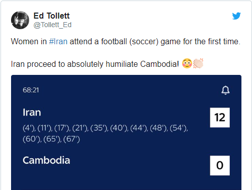 Fans troll Cambodia after record 14-0 loss to Iran in 2022 FIFA World Cup Qualifiers - Bóng Đá