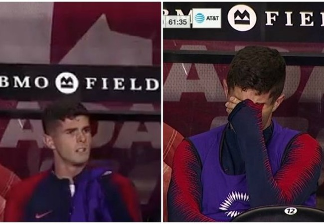 Chelsea winger Christian Pulisic in tears after being substituted in USA's defeat to Canada - Bóng Đá
