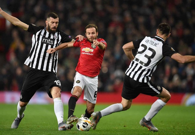 Man Utd fans react to Juan Mata's Europa League display against Partizan - Bóng Đá