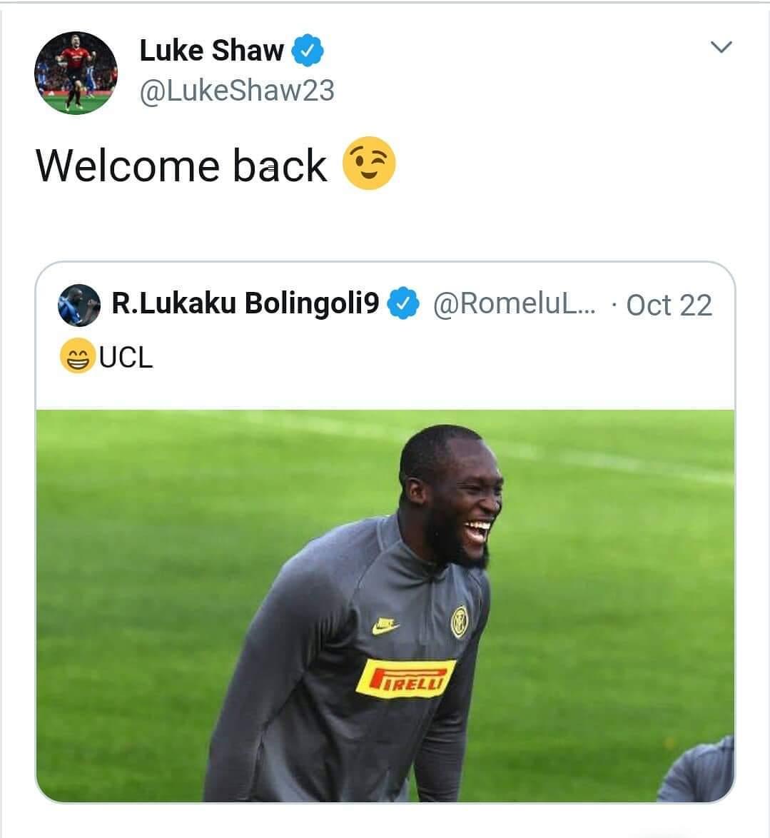 Luke Shaw troll Lukaku after Inter Milan rule out Champions League group stage - Bóng Đá