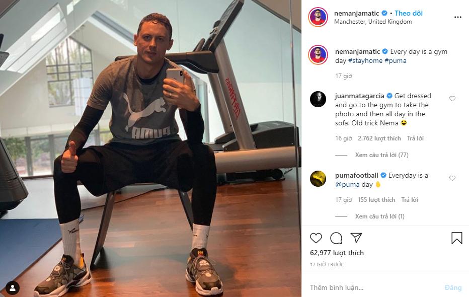 Juan Mata troll Nemanja Matic in Instagram - Bóng Đá
