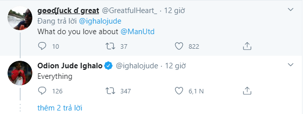 Odion Ighalo sends clear message to Manchester United over his future at the club - Bóng Đá