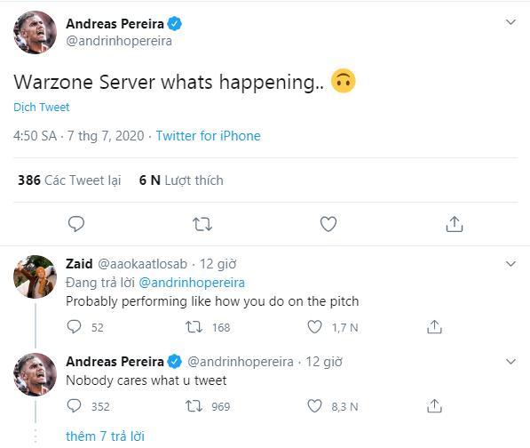 Andreas Pereira responds to Man Utd fans following social media abuse - Bóng Đá