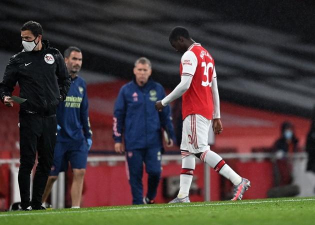 Mikel Arteta reveals what Eddie Nkteiah told Arsenal teammates in dressing room after red card - Bóng Đá