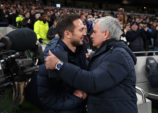Spurs boss Jose Mourinho points out Frank Lampard's use of Callum Hudson-Odoi in defence of his own team selections - Bóng Đá