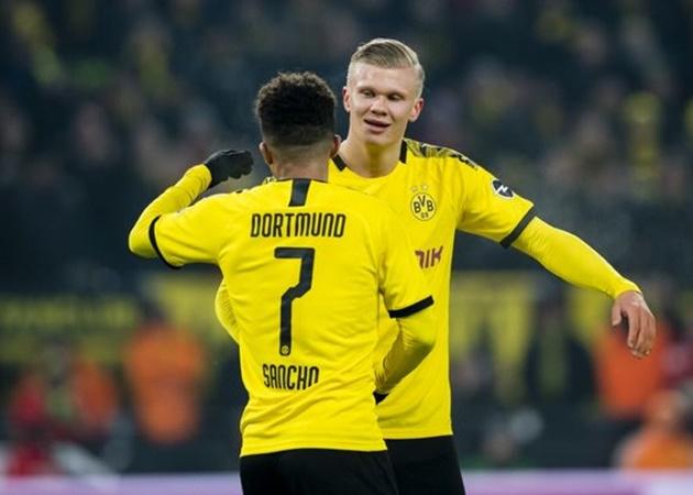 Erling Haaland 'very happy' as Borussia Dortmund tell Manchester United that Jadon Sancho will not be sold - Bóng Đá