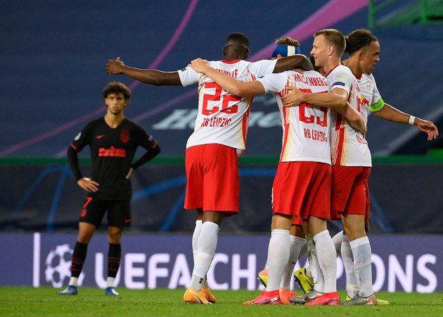 10 thống kê ấn tượng trận Leipzig 2-1 ATM: Simeone gặp 'quái vật' - Bóng Đá