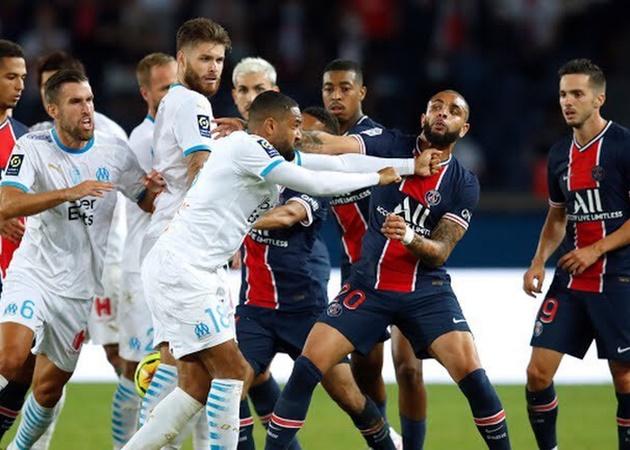 CHOÁNG với trận PSG - Marseille: 14 thẻ vàng, 5 thẻ đỏ và đánh nhau - Bóng Đá