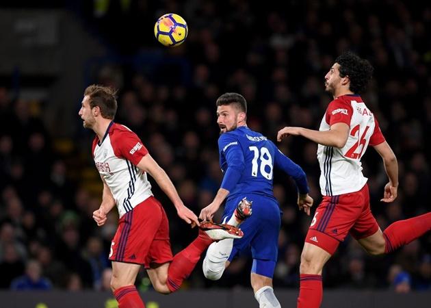 3. Chelsea đã giành chiến thắng trong 4 trận gần nhất gặp West Bromwich Albion mà không để thủng lưới bàn nào. Rõ ràng, The Blues là thử thách rất lớn đối với đội bóng của HLV Slaven Bilic.