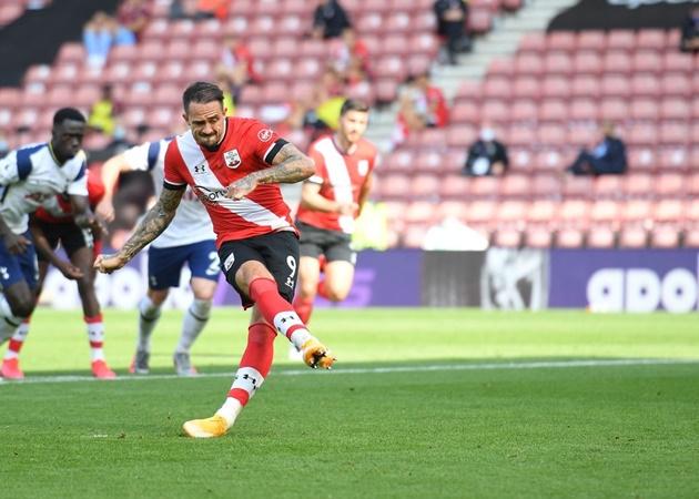 4. Kể từ tháng 8/2019, Danny Ings đã chiếm 45% tổng số bàn thắng của Southampton (24). Sau khi chia tay Liverpool, cựu sao Burnley hồi sinh mạnh mẽ và trở thành chân sút hàng đầu tại Premier League.