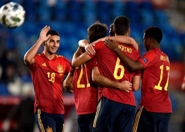 Nc247info tổng hợp: Tây Ban Nha độc chiếm bảng D Nations League