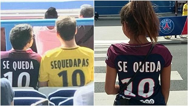 Đến lượt cổ động viên PSG dùng Neymar 'đá đểu' Pique - Bóng Đá