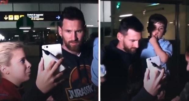 Con trai Messi 'đốn tim' fan hâm mộ tại sân bay - Bóng Đá