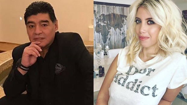 Vợ Icardi 'khẩu chiến' với Maradona trên mạng xã hội - Bóng Đá
