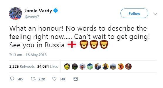 Cầu thủ Anh phản ứng sau khi được lên tuyển  - Bóng Đá