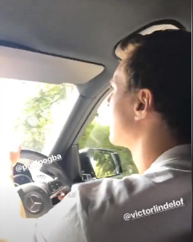Ảnh Pogba Lindelof De Gea ngồi chung xe - Bóng Đá