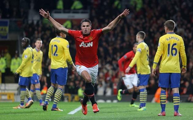 Những khoảnh khắc bàn thắng ấn tượng nhất của van persie trong màu áo MU - Bóng Đá