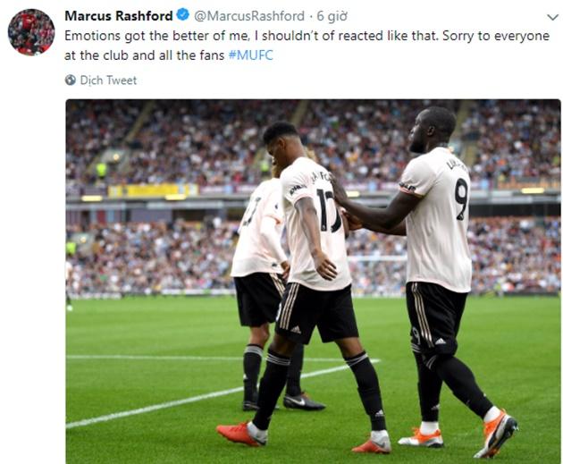 Rashford đăng twitter - Bóng Đá