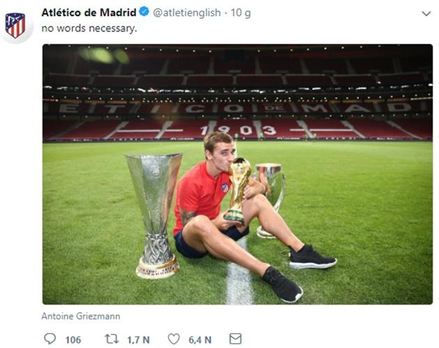Twitter Atletico Madrid tức giận vì Griezmann bị loại khỏi The Best - Bóng Đá