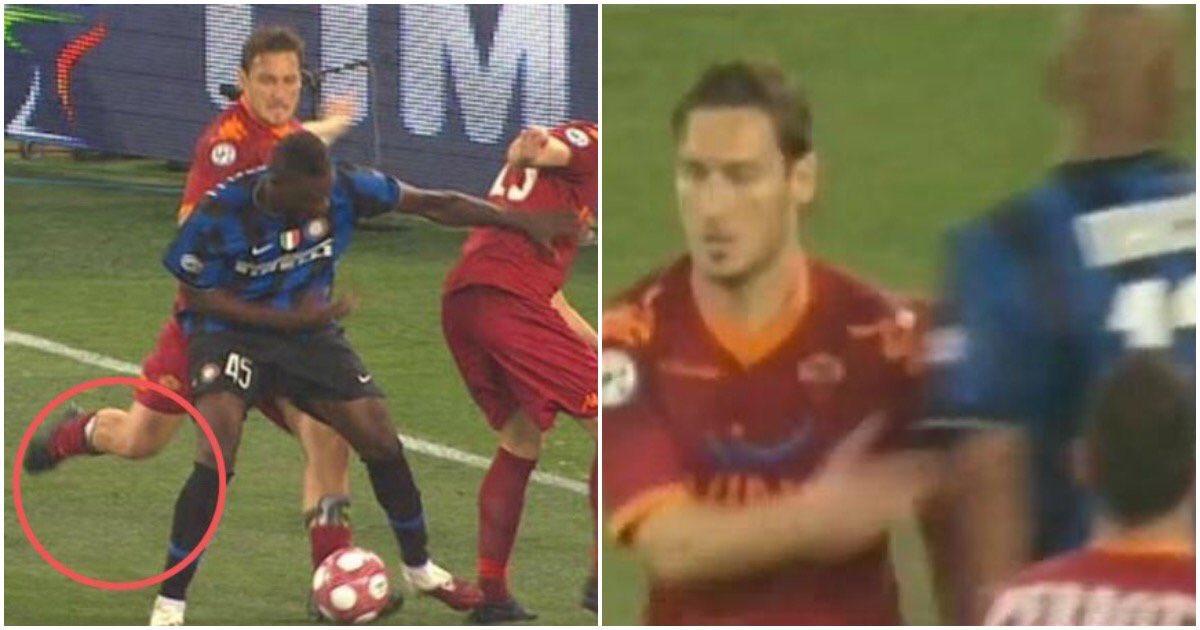 Totti: Maicon đập tay ăn mừng sau khi tôi sút Balotelli - Bóng Đá