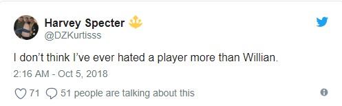 CĐV Chelsea chỉ trích Willian - Bóng Đá