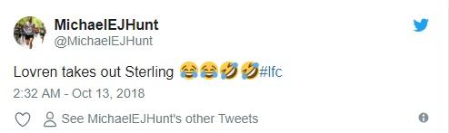 CĐV Liverpool khoái Lovren gạt chân Sterling - Bóng Đá