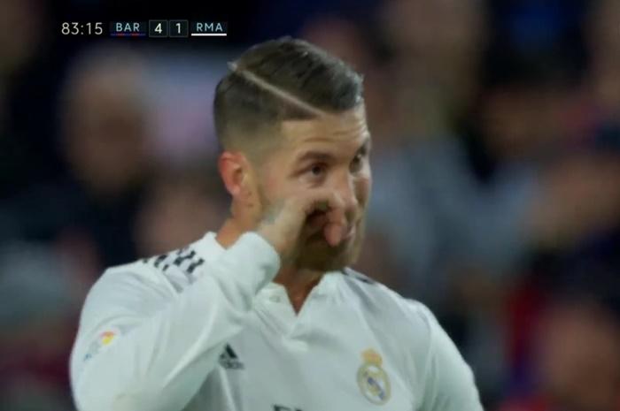 Fan Barca quả quyết Ramos khóc nhè ở phút 83 - Bóng Đá