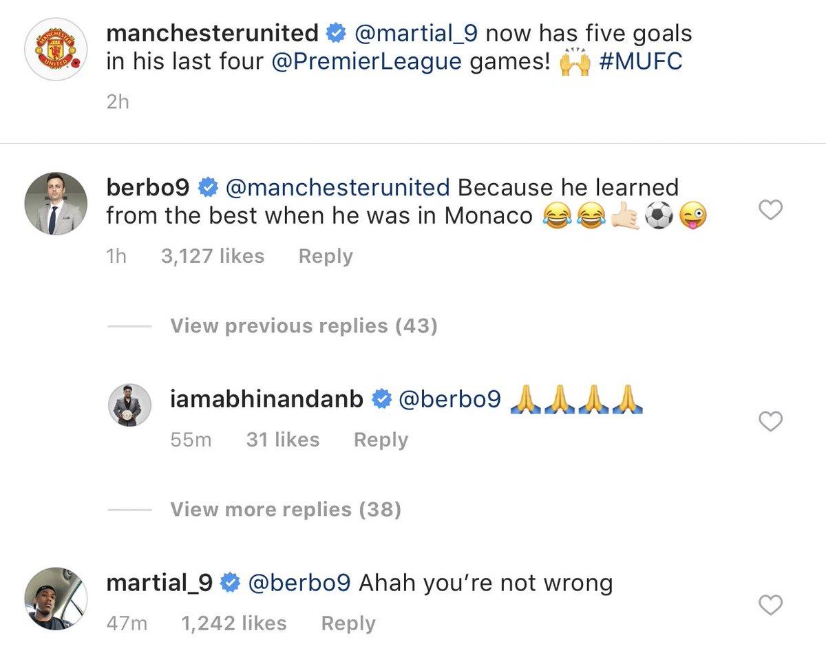Martial chém gió với Berbatov qua Instagram - Bóng Đá