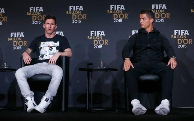 Ronaldo Messi dự khán Copa Liberto - Bóng Đá