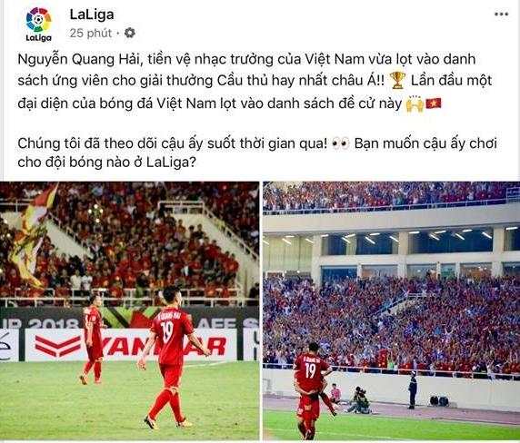 La Liga đưa tin Quang Hải - Bóng Đá