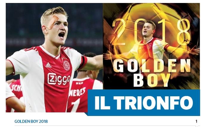 De Ligt đoạt Golden Boy - Bóng Đá