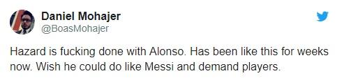 Hazard phản ứng Marcos Alonso - Bóng Đá