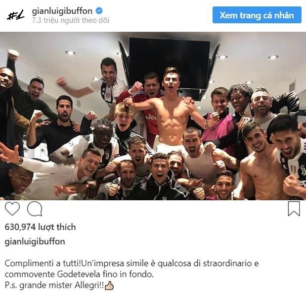 Buffon lên tiếng về Juve thắng - Bóng Đá
