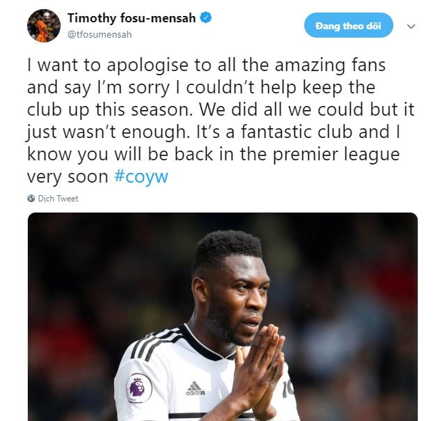 Mensah xin lỗi CĐV Fulham - Bóng Đá