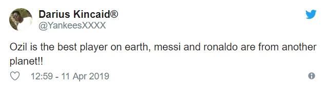 Fan Arsenal khen Ozil - Bóng Đá