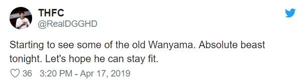 Fan Tottenham khen Wanyama  - Bóng Đá