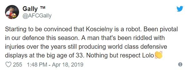 Fan Arsenal khen Koscielny - Bóng Đá