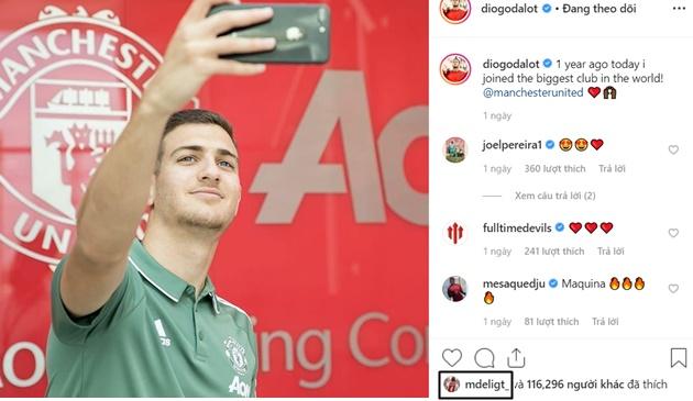 De Ligt like Instagram Dalot - Bóng Đá