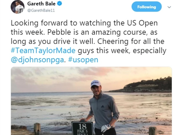 Gareth Bale trolled by fans as Real Madrid star posts picture of himself on golf course at same time  - Bóng Đá