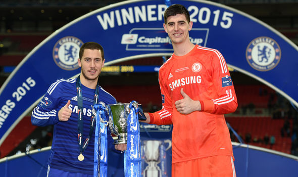 Eden Hazard reveals what former Chelsea star Thibaut Courtois told him before joining Real Madrid  - Bóng Đá