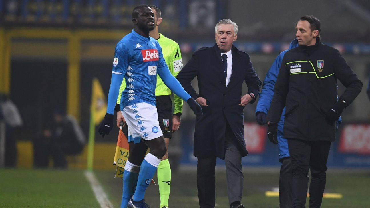 Ancelotti 'threatens to quit Napoli' if Man Utd sign £135m-rated Koulibaly in world-record transfer - Bóng Đá
