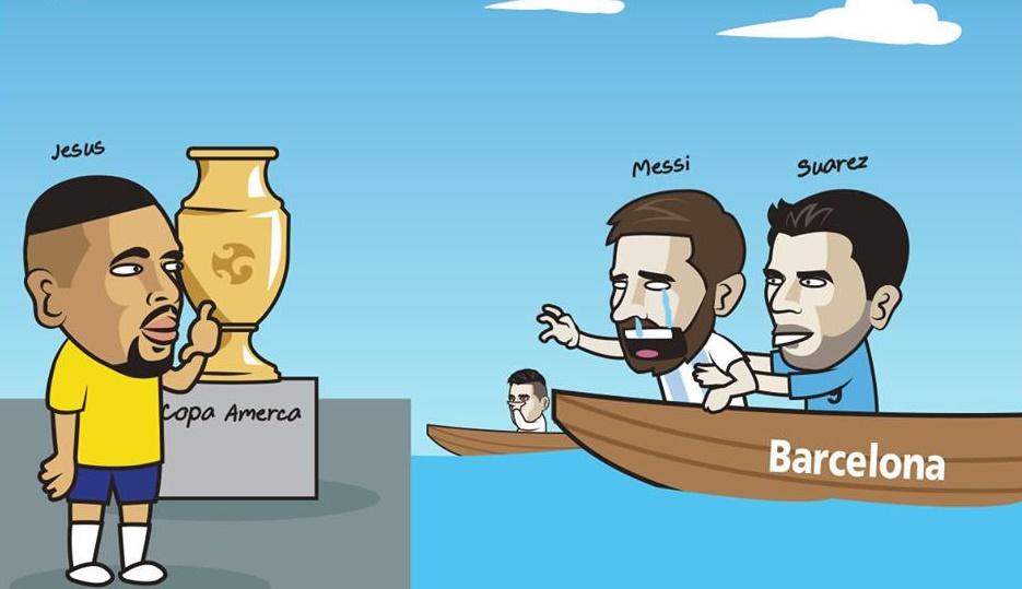 Ảnh chế Messi bị loại Copa - Bóng Đá