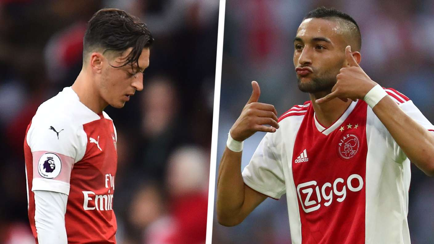 'Sell Ozil & get Ziyech for half the price!' - Arsenal ignoring Ajax chief Overmars' transfer advice - Bóng Đá