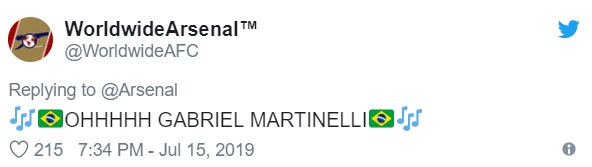 'Better than Ronaldo!' - Arsenal fans go crazy as Gabriel Martinelli scores on pre-season debut - Bóng Đá