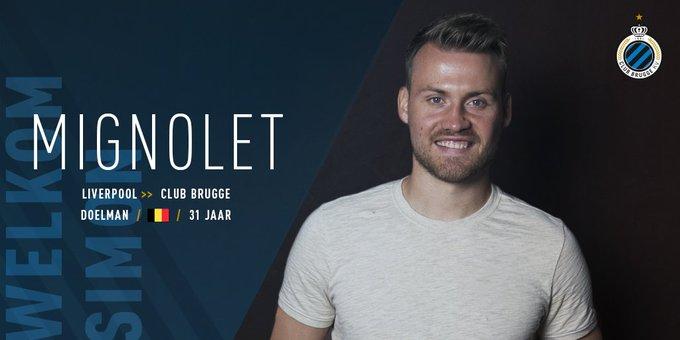 Mignolet join Club Brugge - Bóng Đá