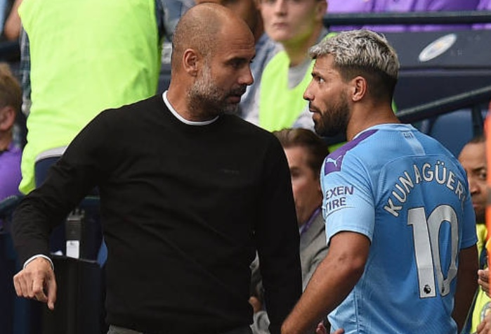 What Sergio Aguero did to Pep Guardiola after Gabriel Jesus winner was ruled out by VAR - Bóng Đá