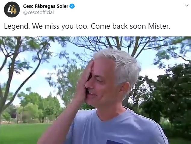 Fabregas động viên Mourinho - Bóng Đá